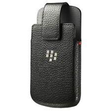 For Blackberry Q10 Leather Swivel Holster Pouch Sleeve Case Black Brand New