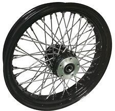 """Black Ultima 60 Spoke Billet 26 x 3.5"""" Front Wheel for Harley Models 2000-Later"""