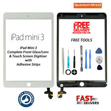NEW Complete Front Glass Digitiser Touch Screen Assembly For iPad Mini 3 - WHITE