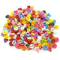 250 MINI BOUTONS en mélange 6mm plastique à coudre pour jouet poupée couture