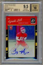 2016 Donruss Optic Rookie Signatures Black TYREEK HILL RC Auto 9/25 BGS 9.5/10