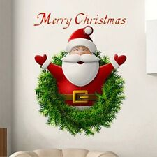 PVC Merry Christmas Wall Sticker Home Decal Window Decoration Santa Claus