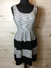 Maurices Ladies Tweed And Black Color Block Tank Dress Size XL