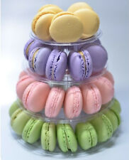 NEW 4-TIER FRENCH MACARON TOWER WITH CARRYING CASE, FOOD-SAFE, FREE SHIPPING USA