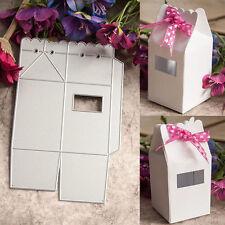 Metal Gift Box Cutting Dies Stencils Scrapbooking Album Embossing Card DIY Craft