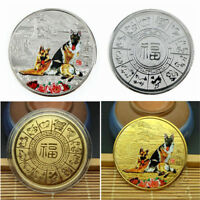 1pc 2018 Year Of The Silver Dog Coin For Chinese Commemorative Coins