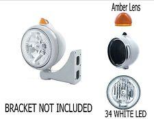 Peterbilt Kenworth Headlight - w/ 34 LED Headlamp and LED Signal (White/Amber)