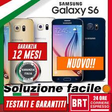 NUOVO! SMARTPHONE SAMSUNG GALAXY S6 SM-G920 32GB ORIGINALE! g920f g920v_GAR.ITA