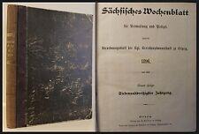Sächsisches Wochenblatt für Verwaltung und Polizei 1896 -Verordnungen Leipzig xz