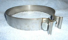 """AccuSeal Exhaust Clamp 6"""" inch Bright 430 Stainless Steel New"""