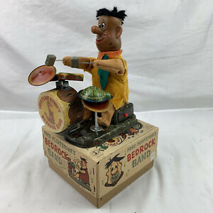 RARE 1962 ALPS FRED FLINTSTONES BEDROCK BAND EARLY ROCK 'N ROLL BATTERY OPERATED