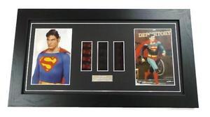 SUPERMAN FILM CELLS CHRISTOPHER REEVE Movie Memorabilia Framed SUPERMAN GIFTS