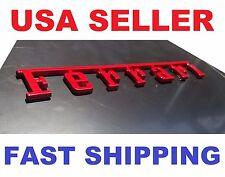 Red 3D Ferrari Letters Script METAL Emblem Logo Badge Ferrari FITS MOST MODELS