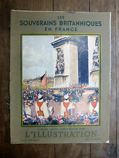 L'ILLUSTRATION Hors Série 1938 SOUVERAINS BRITANNIQUES EN FRANCE Grande-Bretagne