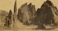 Amérique du Nord, Formation rocheuses  Vintage albumen print. North America  T