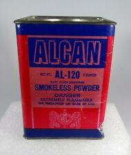 Vintage Alcan Al-120 Smokeless Powder Can Tin - Empty
