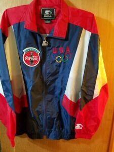 Vintage 1996 Olympics Team USA Coca-Cola Windbreaker Jacket X-Large