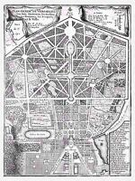 MAP ANTIQUE PALACE PLAN DE FER VERSAILLES PARK GARDENS LARGE PRINT POSTER LF1363