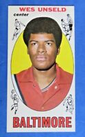 1969 TOPPS BASKETBALL ~ CARD #56 WES UNSELD ~ NM/MT ~  ROOKIE CARD RC ~
