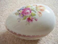 German Dresden porcelain big vase-egg-trinket box with flowers