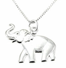 Sterling Silver Elephant Pendant with Chain