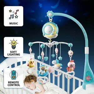 【Hypnos】Baby Mobile Crib Cot Musical Wind up Toys Music Box Hanger Arm Bed Bell
