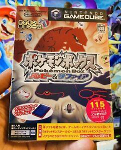 Pokemon Box Sapphire Ruby + Memory Card Nintendo GameCube SEALED Japan Import