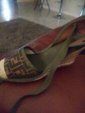 Fendi Wedge Ankle Strap Espadrilles