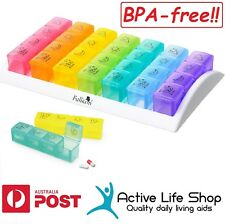 Transparent Pill Boxes Cases 4 Compartments Per Day Ebay
