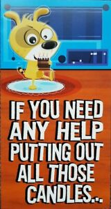 """Hallmark Humour Funny Birthday Card """"Help Putting Out All Those Candles"""""""