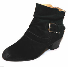 womens Clarks ladies ancle boots MELANIE JUDE black suede size 6.5 e