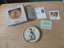 """1988 Goebel Miniature Collector's Plate """"Little Sweeper"""" in Box First Edition"""