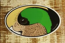 "WIDGEON WIGEON DUCK Sticker Decal 4.5"" x 3"" oval bird waterfowl hunting"