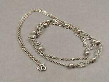 Silber Collier 835 Silber Halskette Geflecht Kugeln FBM