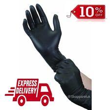 Black Strong Nitrile Gloves Powder Latex Free Mechanic Tattoo Valeting Barber