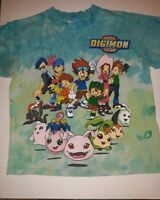 VTG YOUTH MED Digimon Tie-Dyed T-Shirt Rare 1999 Toei Tai Matt Digidestined HTF