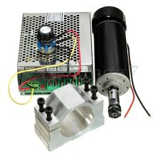 CNC 500W Spindle Motor + 52mm Clamp + Power Supply Speed Governor ER11 110/220V