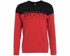 Magliette da uomo rossi HUGO BOSS con girocollo