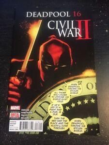 "Deadpool#16 Incredible Condition 9.2(2016)""Civil War ll"" Cool!!"