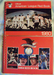 1984 and 1980 American League RED BOOKs  BALTIMORE ORIOLES Chicago White Sox