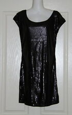 NWT Womens size  M (10) black sequined mini dress made by COTTON ON