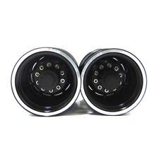 X Spede TTR112R01 Tamiya 1/14 Tractor Truck Black Aluminum Rear Wheels (2)