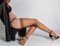 Cecilia de Rafael Eterno 15 Bas High Shine Thigh High Stay Up Sheer Stockings