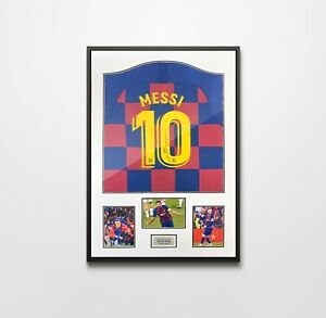 Authentically Signed Lionel Messi Framed Shirt