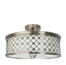 "Light Flush Mount Ceiling Lamp Feit LED 15.4"" Round Adjustable Brushed Nickel"