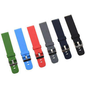 20/22mm Silicone Rubber Smart Watch Strap Sports Replacement Bracelet Wrist Band