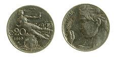 pcc2029_1) Vittorio Emanuele III (1900-1943) - 20 Centesimi 1910 Libertà librata