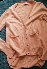 11-12 years girl peach pink knitted cardigan sweater jumper with pockets next