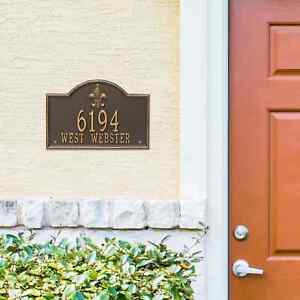 Bayou Vista Personalized Address Plaque