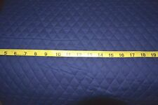 """Solid Navy Blue QUILTED FABRIC Double Sided 1""""Diamond BTY"""